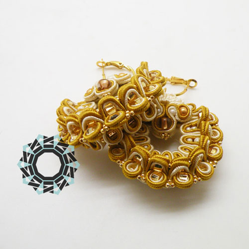 3D Soutache earrings / Kolczyki soutache 3D by Tender December, Alina Tyro-Niezgoda