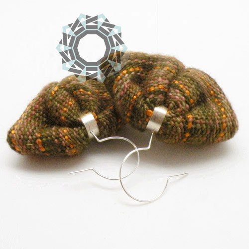 Woven earrings / Tkane kolczyki by Tender December, Alina Tyro-Niezgoda