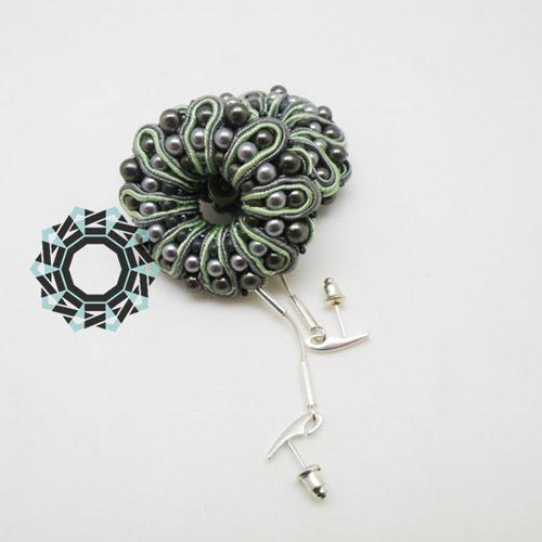 3D Soutache earrings / Kolczyki soutache 3D by Tender December, Alina Tyro-Niezgoda