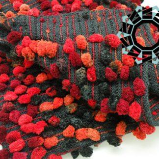 Scarf with bubbles (red) / Szalik z bąbelkami (czerwony) by Tender December, Alina Tyro-Niezgoda