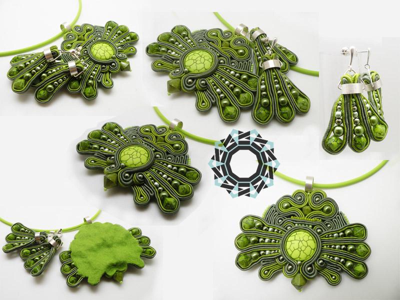 Soutache pendant and earrings / Wisior i kolczyki soutache by Tender December, Alina Tyro-Niezgoda