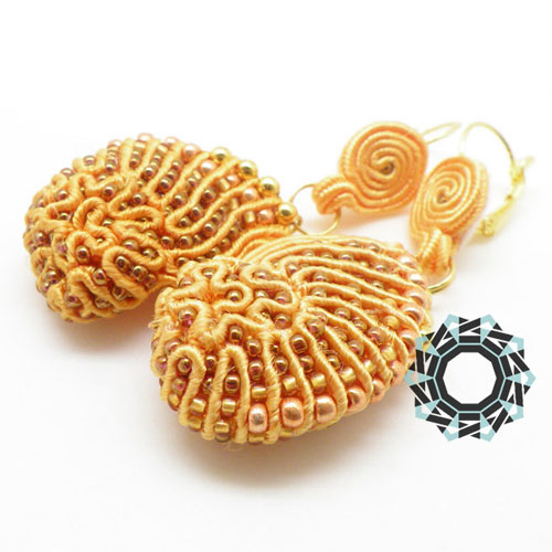 3D shell soutache earrings / Kolczyki soutache 3D (muszelki) by Tender December, Alina Tyro-Niezgoda