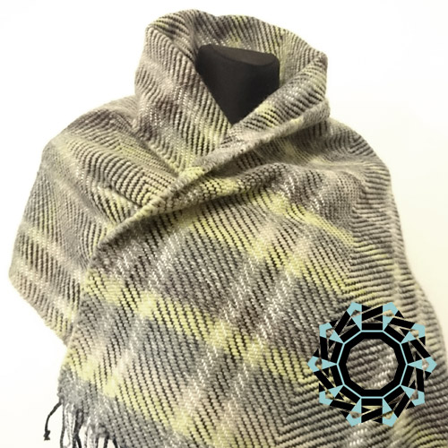 Very warm herringbone scarf / Ciepły szalik w jodełkę by Tender December, Alina Tyro-Niezgoda