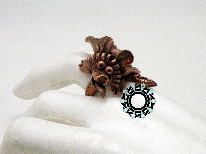 Bronze ring / Pierścionek z brązu by Tender December, Alina Tyro-Niezgoda