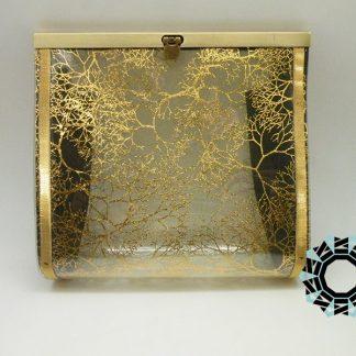 Silver-and-gold transparent bag / Srebrno-złota przeźroczysta torebka by Tender December, Alina Tyro-Niezgoda