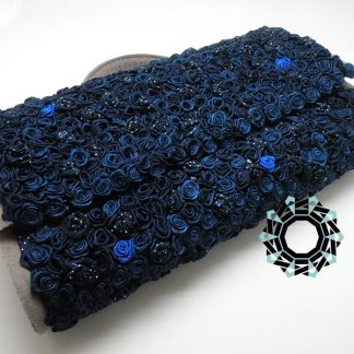 Blue rose bag / Torebka Granatowa róża by Tender December, Alina Tyro-Niezgoda