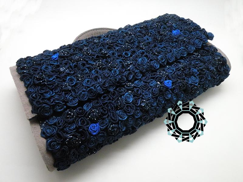 Blue rose bag / Torebka Granatowa róża by Tender December, Alina Tyro-Niezgoda