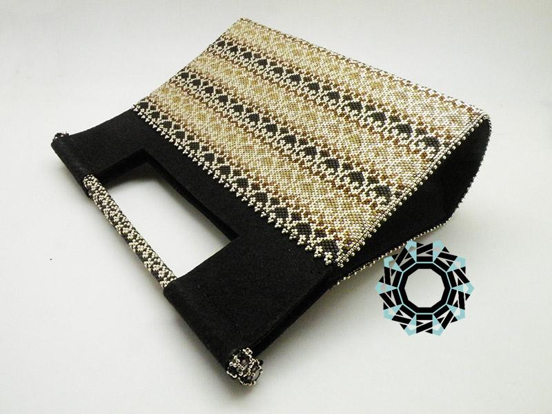 Oriental bag in coffee tones / Orientalna torebka w kolorach kawy by Tender December, Alina Tyro-Niezgoda