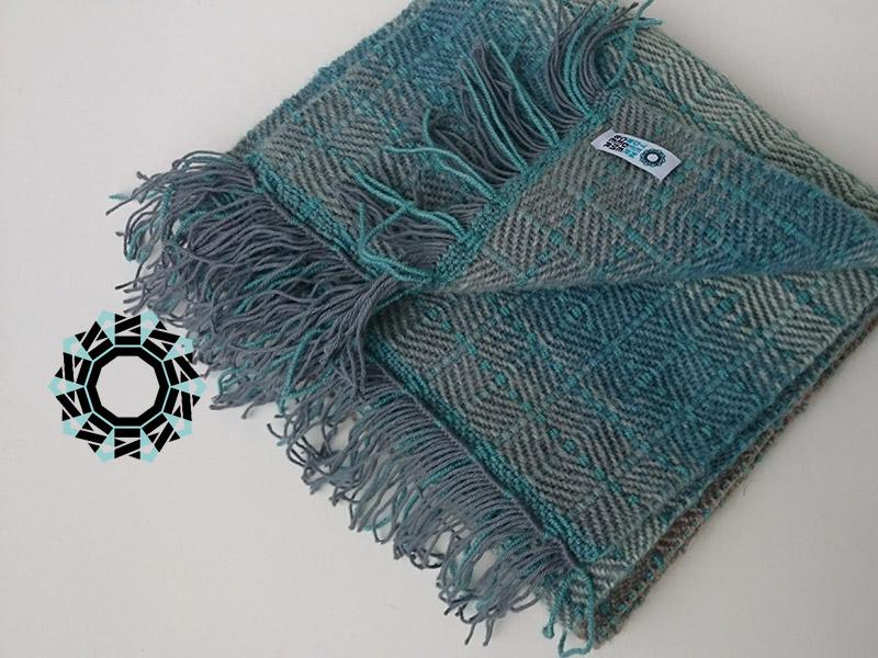 Blue mohair scarf / Niebieski szalik moherowy by Tender December, Alina Tyro-Niezgoda