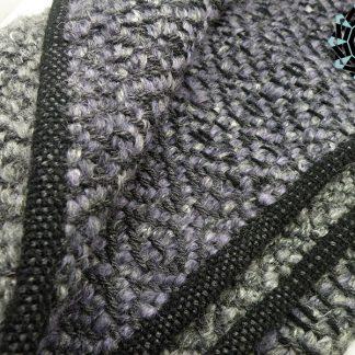 Mohair XXL shawl in gray and purple / Moherowy szal XXL w szarościach i fioletach by Tender December, Alina Tyro-Niezgoda