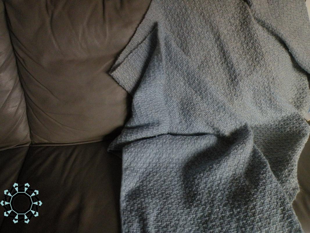 Mohair XXL shawl in grey and blue / Moherowy szal XXL w szarościach i błękitach by Tender December, Alina Tyro-Niezgoda