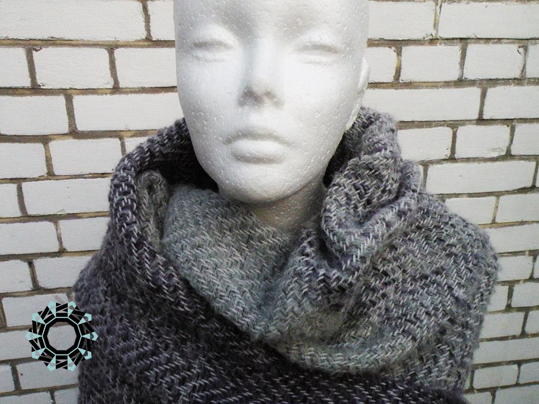 Mohair XXL shawl in grey and purple / Moherowy szal XXL w szarościach i fioletach by Tender December, Alina Tyro-Niezgoda
