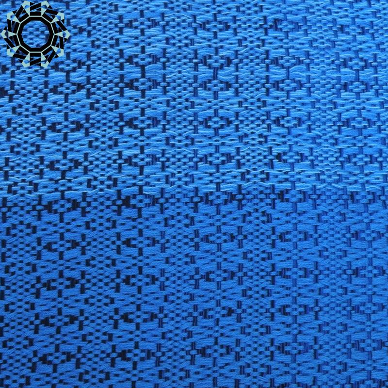 Cotton XXL shawl in the color of navy blue, blue and pearl gray / Bawełniany szal XXL w tonacji granatu, błękitów i perłowej szarości by Tender December, Alina Tyro-Niezgoda