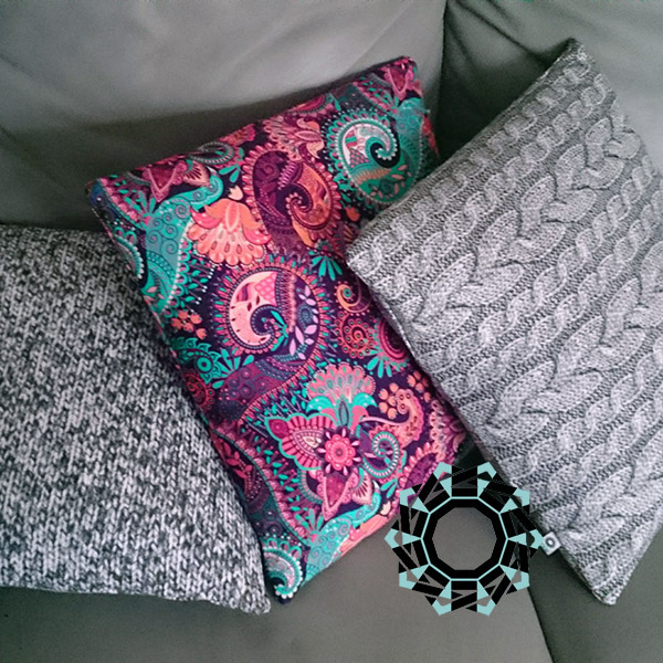 Colourful cushions / Kolorowe poduszki by Tender December, Alina Tyro-Niezgoda