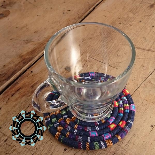 Textile drink coaster / Tekstylne podkładki pod szklanki by tender December, Alina Tyro-niezgoda