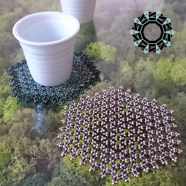 Beaded glass mat / Koralikowa podkładka by Tender December, Alina Tyro-Niezgoda