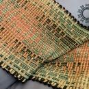 green-orange fabric by Tender December, Alina Tyro-Niezgoda