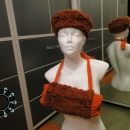 Beret and handwarmer in orange / Beret i mufka w pomarańczach by Tender December, Alina Tyro-Niezgoda,