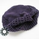 Fluffy cap in plum color / Puchata czapka w kolorze śliwki by Tender December, Alina Tyro-Niezgoda,