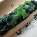Fluffy green cap / Puchata czapka zielona by Tender December, Alina Tyro-Niezgoda,
