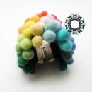 Felt bracelet in the colors of rainbow / Filcowa bransoleta w kolorach tęczy by Tender December, Alina Tyro-Niezgoda,