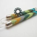 Tapestry earrings / Gobelinowe kolczyki by Tender December, Alina Tyro-Niezgoda,