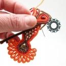 Orange soutache earrings / Pomarańczowe kolczyki soutache by Tender December, Alina Tyro-Niezgoda,