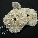 Wedding soutache earrings / Ślubne kolczyki soutache by Tender December, Alina Tyro-Niezgoda,