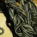 Melange scarf with black bands / Melanżowy szalik w czarne paski by Tender December, Alina Tyro-Niezgoda,