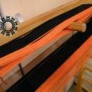 Crazy scarf with orange side bands / Zwariowany szalik w pomarańczach by Tender December, Alina Tyro-Niezgoda,