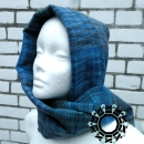multi-colour scarf with hood by Tender December, Alina Tyro-Niezgoda