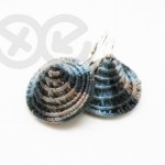 Textile earrings / Kolczyki tekstylne by Tender December, Alina Tyro-Niezgoda