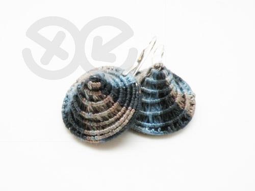 Textile earrings / Kolczyki tekstylne by Tender December, Alina Tyro-Niezgoda