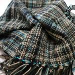 Melange scarf with black bands / Melanżowy szalik w czarne paski by Tender December, Alina Tyro-Niezgoda