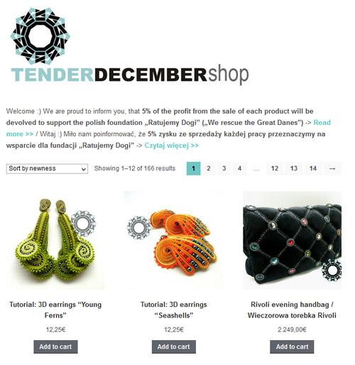 Tender December shop / sklep