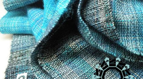 """""""Denim"""" scarf with hood / Szalik """"jeansowy"""" z kapturem by tender December, Alina Tyro-Niezgoda"""