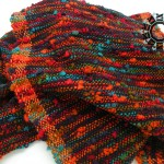 Crazy scarf with orange side bands / Zwariowany szalik by Tender December, Alina Tyro-Niezgoda