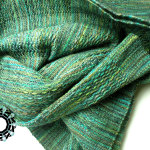 Green XL scarf / Zielony szalik XL by Tender December, Alina Tyro-Niezgoda