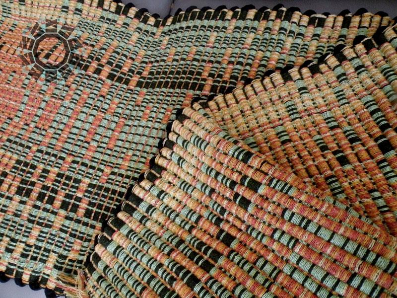 Green-orange fabric / Pomarańczowo-zielona tkanina by Tender December, Alina Tyro-Niezgoda