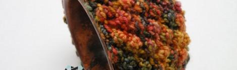 Copper bracelet in the shades of autumn / Miedziana bransoleta w tonacji jesieni by Tender December, Alina Tyro-Niezgoda