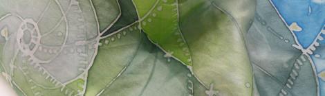 Silk painting / Malowane na jedwabiu by Tender December, Alina Tyro-Niezgoda