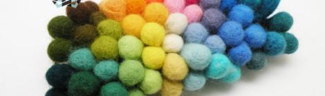 Felt bracelet in the colors of rainbow / Filcowa bransoleta w kolorach tęczy by Tender December, Alina Tyro-Niezgoda