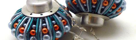 Echinoderms earrings / Szkarłupniowe kolczyki by Tender December, Alina Tyro-Niezgoda