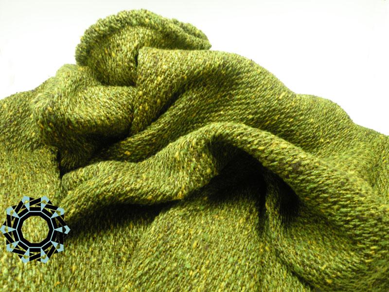 Green woven blouse / Zielona tkana bluza by Tender December, Alina Tyro-Niezgoda