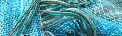 Three-coloured scarf with hood / Trójkolorowy szalik z kapturem by Tender December, Alina Tyro-Niezgoda