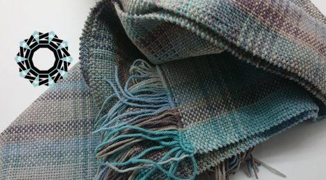 Cotton melange scarf / Szalik Bawełniany melanż by Tender December, Alina Tyro-Niezgoda