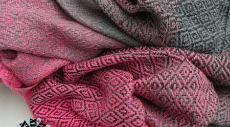 Painting with cotton shawl / Szal Malowanie bawełną by Tender December, Alina Tyro-Niezgoda