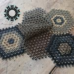 Beaded table mats / Koralikowe podkładki na stół by Tender December, Alina Tyro-Niezgoda