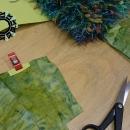 """Green, evening """"fur"""" bag / Zielone """"futro"""" na wieczór by Tender December, Alina Tyro-Niezgoda,"""