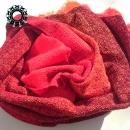 """""""Asymmetrical colours"""" shawl / Szal """"Niesymetryczne kolory"""" by Tender December, Alina Tyro-Niezgoda More / Więcej: http://tenderdecember.eu/painting-with-acryl-malowanie-akrylem/ To buy / Aby kupić: http://tenderdecember.eu/shop/produkt/acrylic-xxl-shawl-color-orange-red-burgundy-akrylowy-szal-xxl-w-tonacji-pomaranczy-czerwieni-bordo/"""